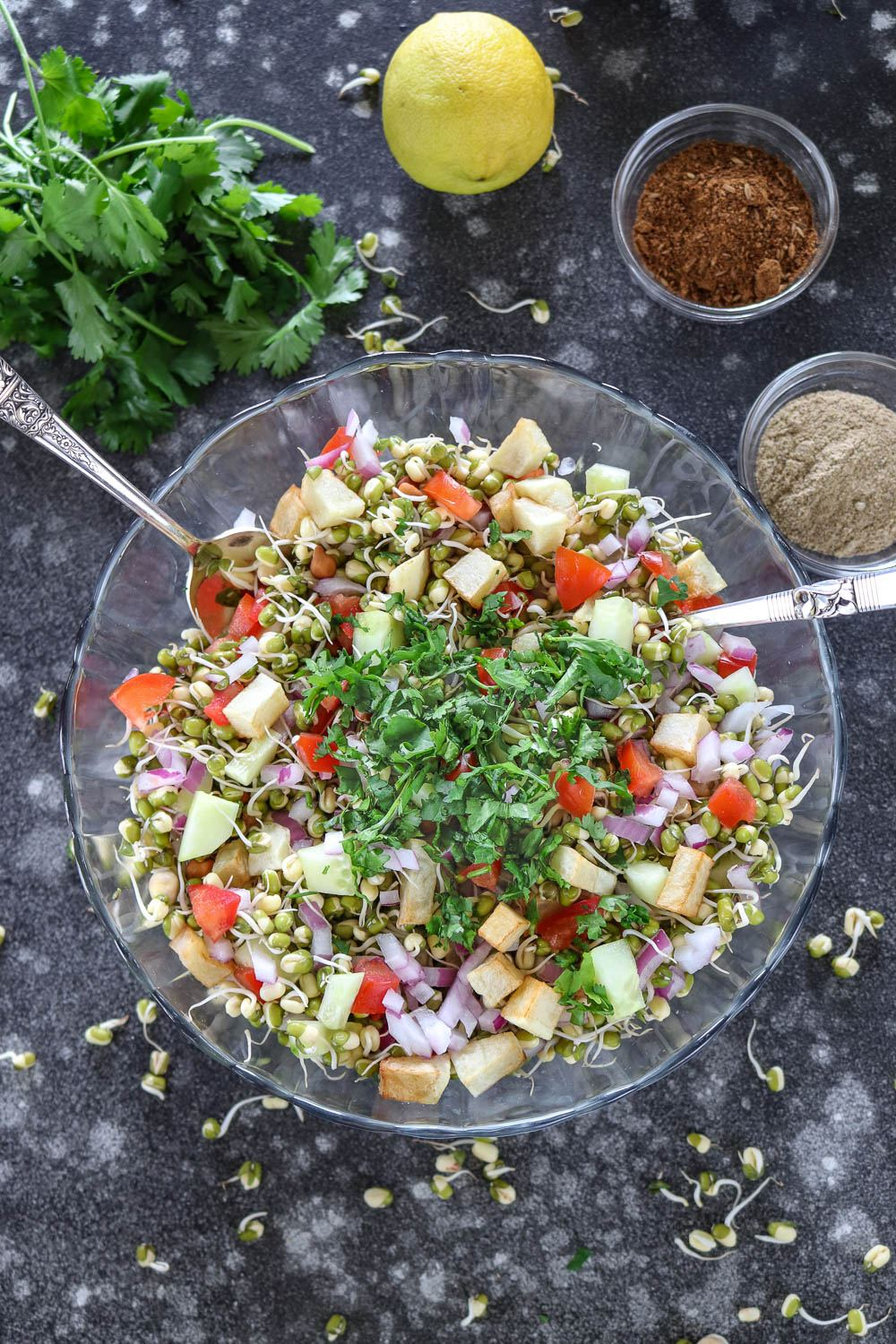 Step by step Moong Bean Sprouts Salad- Ruchiskitchen