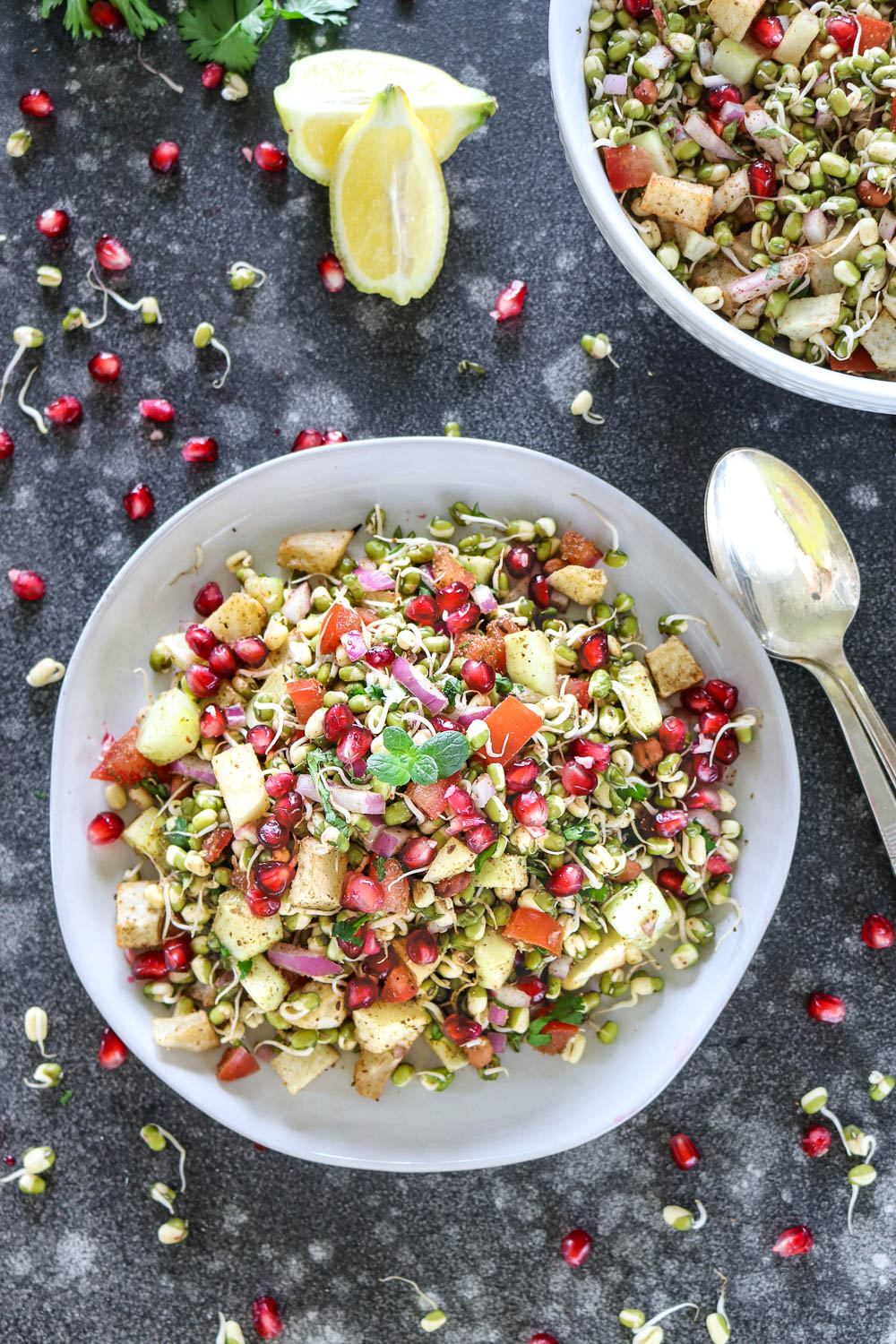 Healthy Moong Bean sprouts salad - Ruchiskitchen