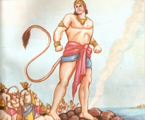 hanuman growing in size