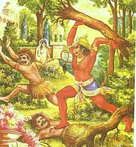 Hanuman in Ashok vatika