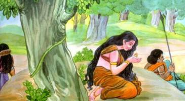 Mother Sita sees the ring