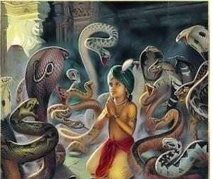 Narasimha avatar- Hiranyakashipu and Prahlad