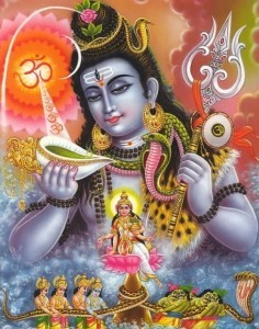 Kurma Avatar - The second incarnation of Lord Vishnu- Shiva drinking Poison