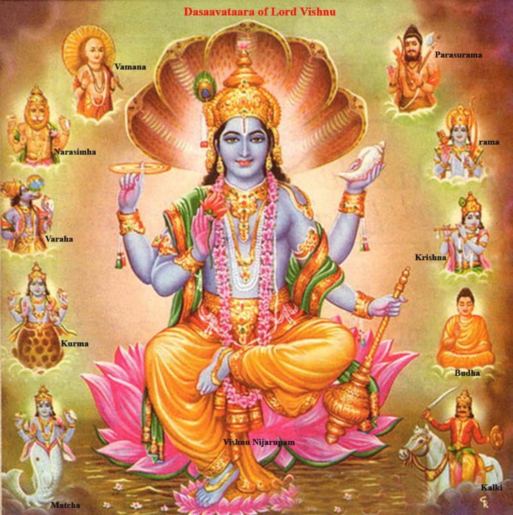 Vishnu - Dasha Avatar -Ten Incarnations