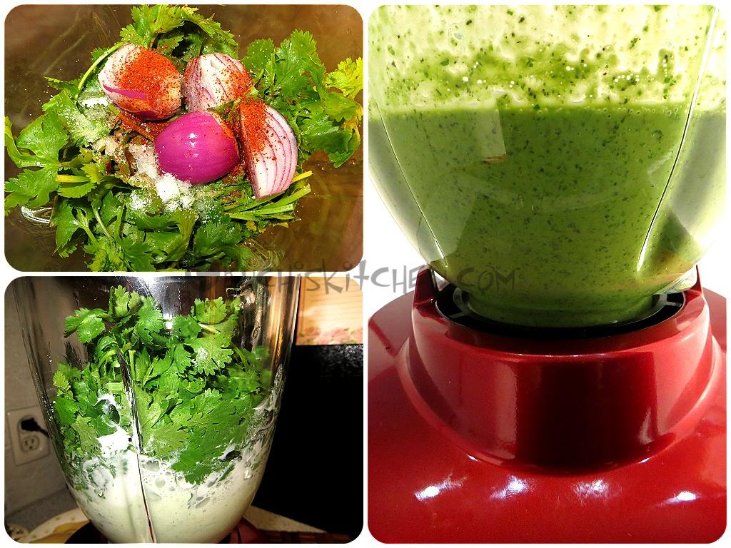 how to prepare coriander chutney