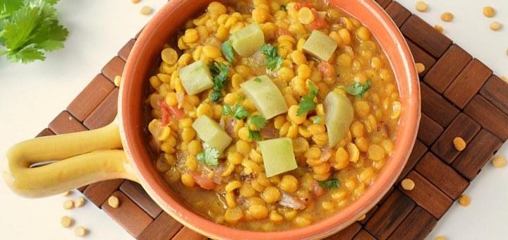 chana dal with lauki recipe