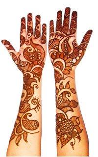 Mehendi hands for Karwa Chauth