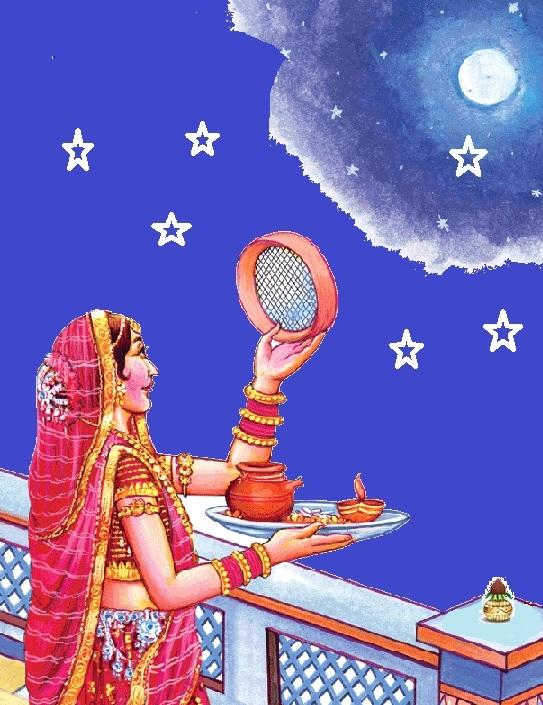 Karwa Chouth Vrat katha and Vrat vidhi