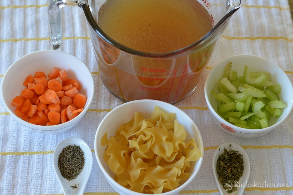 Chicken stock ingedients