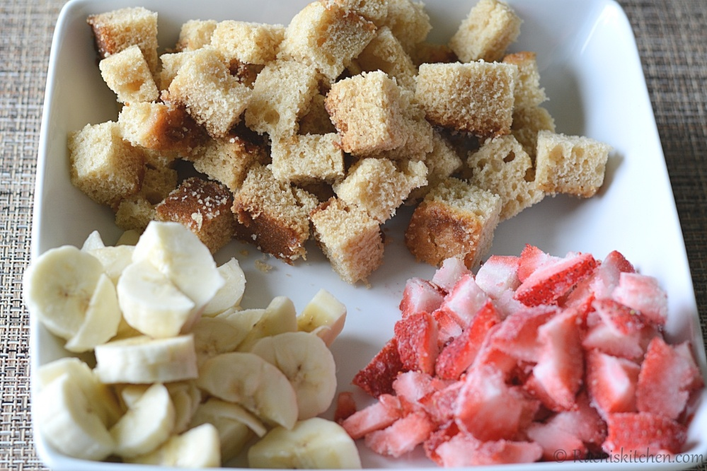Fruit trifle- ingredients