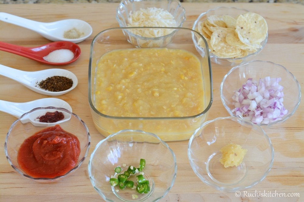 Mexican Corn soup ingredients