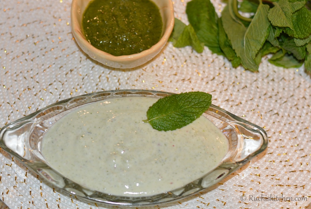 Mint chutney raita recipe