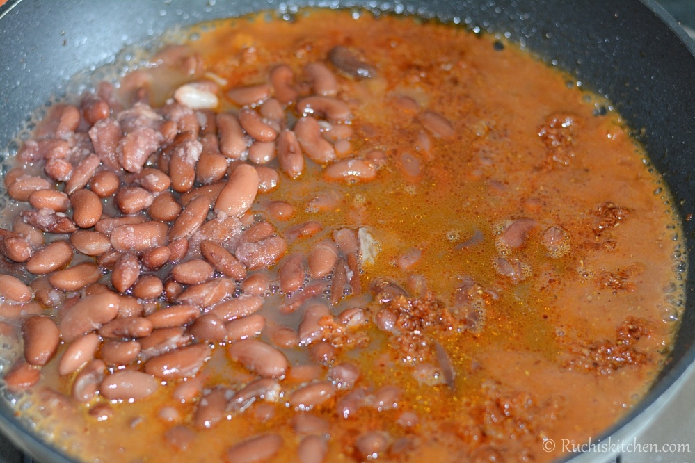 Preparing the rajma