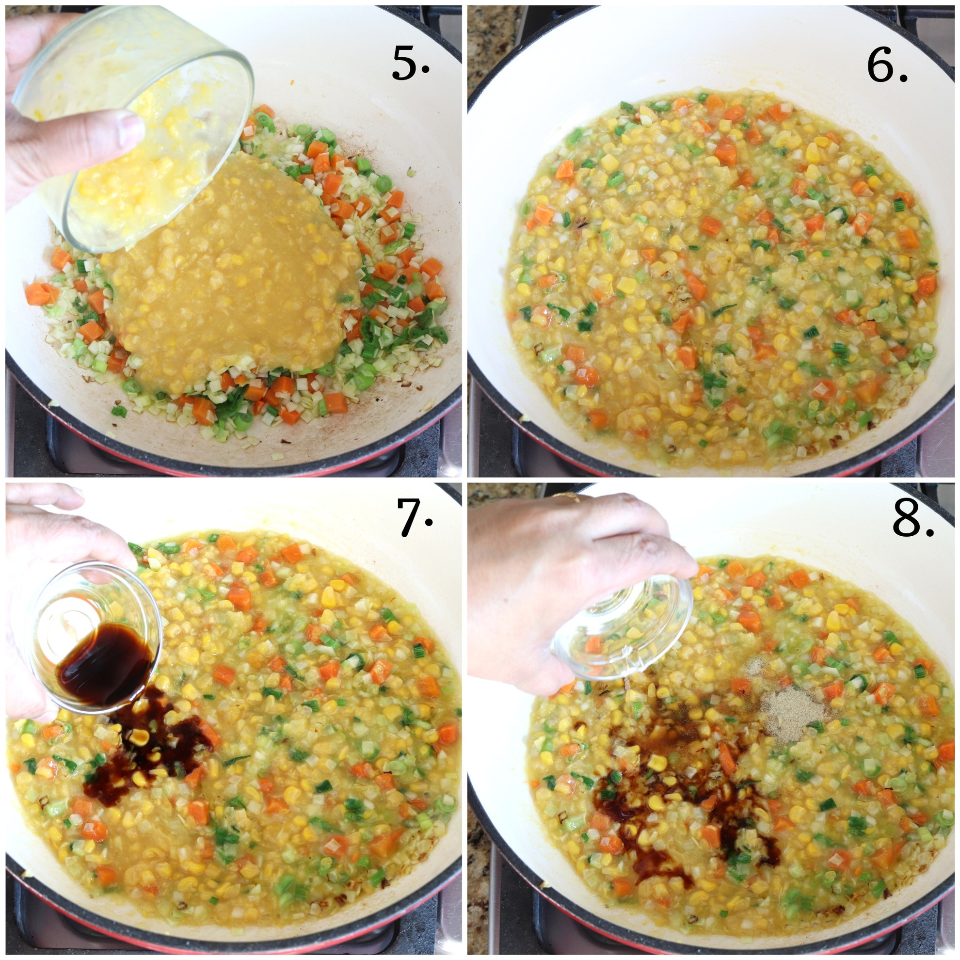 Step by step recipe of sweet corn soup