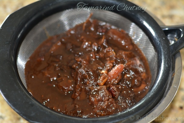 Tamarind - chutney sieve through the stariner
