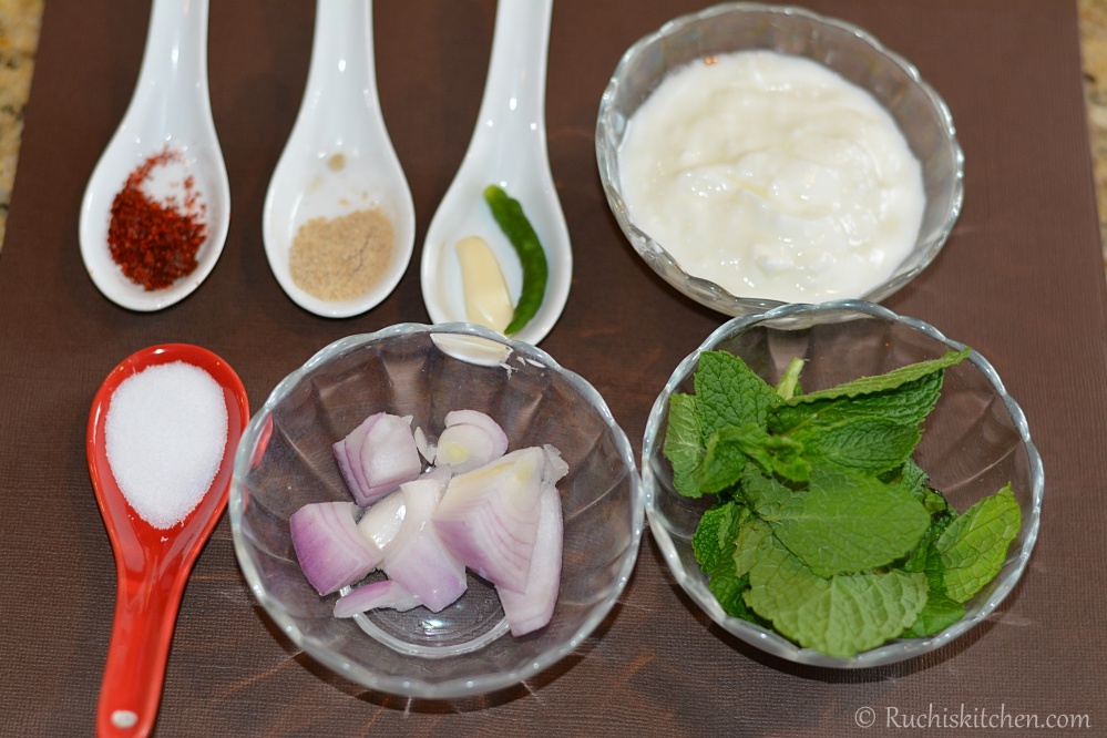 Tandoori chutney ingredients