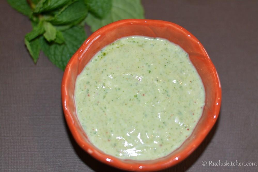Tandoori mint chutney