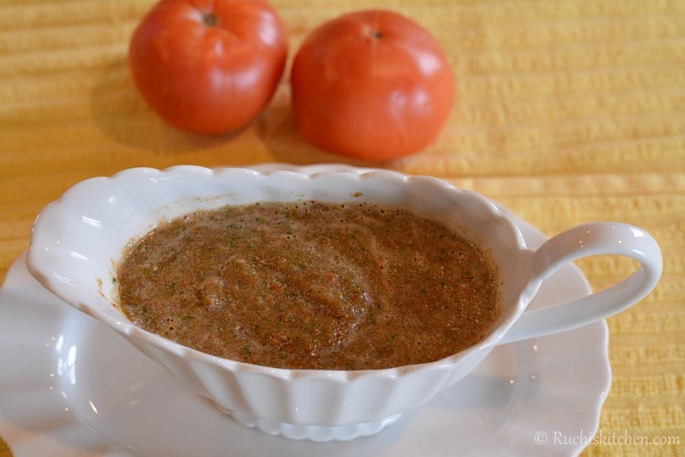 Tomato-Cilantro Chutney
