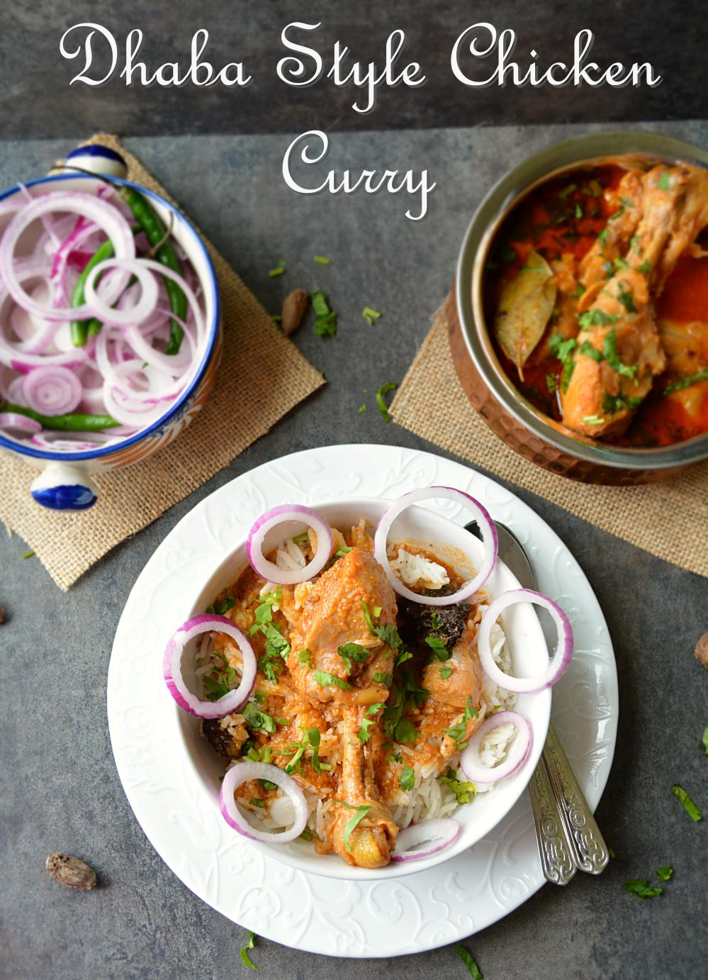 Dhaba style chicken curry