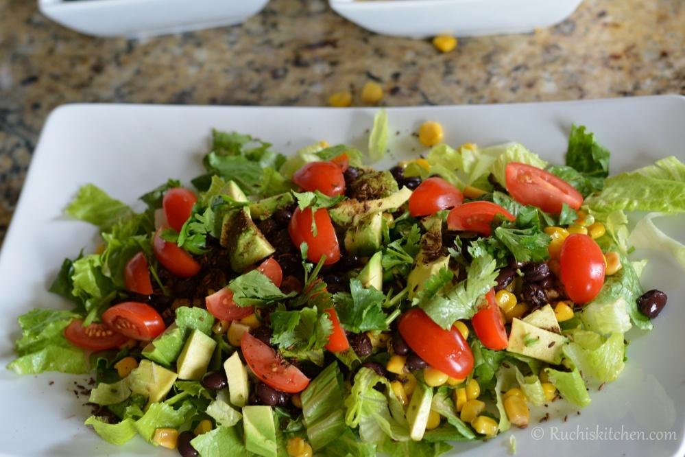 Corn salad ingredients