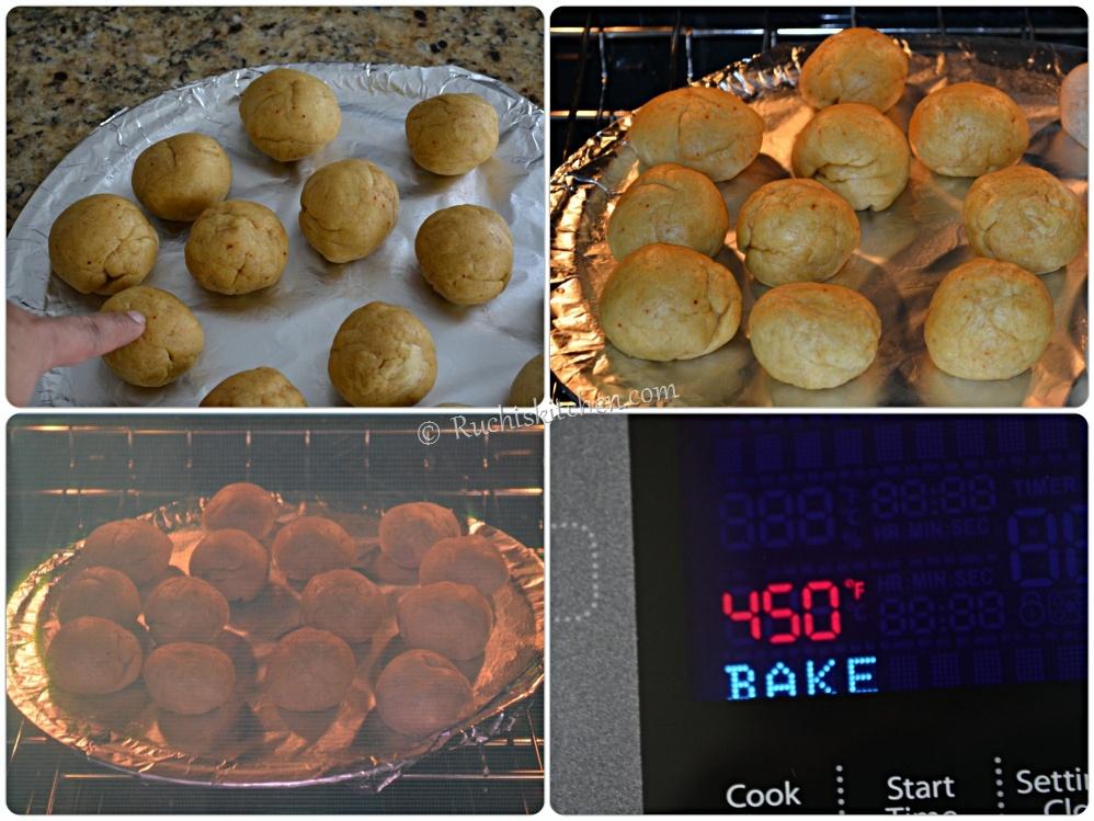 Bati baking in oven