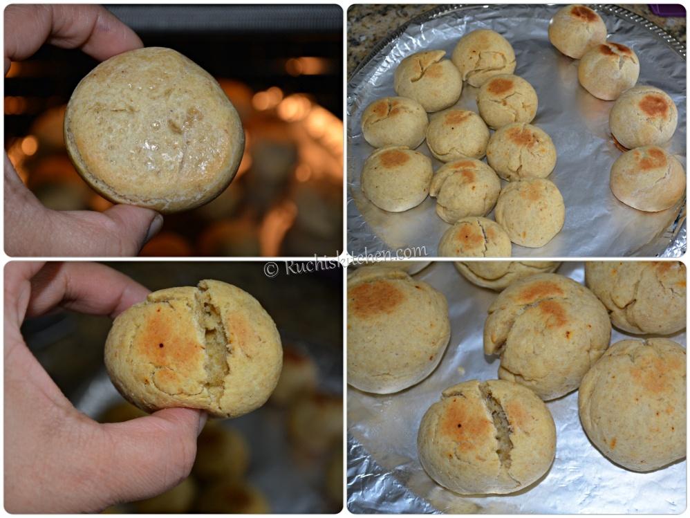 Bati cooked