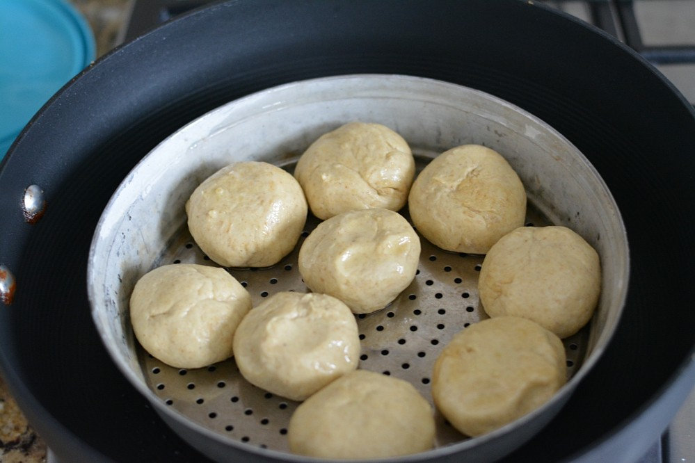 Bati without oven - step 1