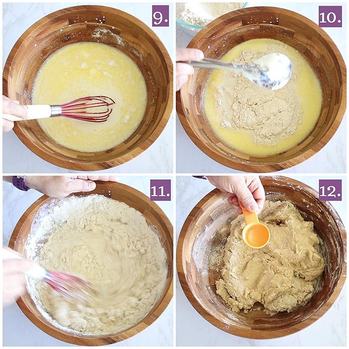 Knead the kulcha dough
