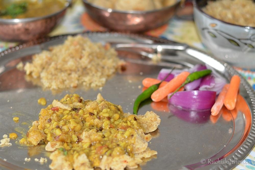 How to eat bati - dal bati choorma