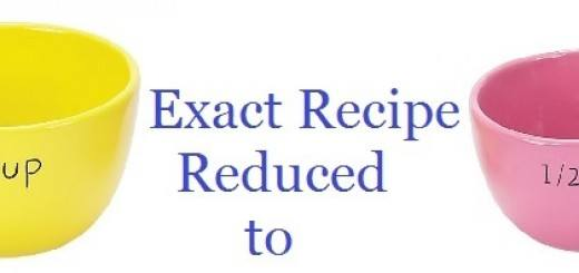 Recipe reduced to