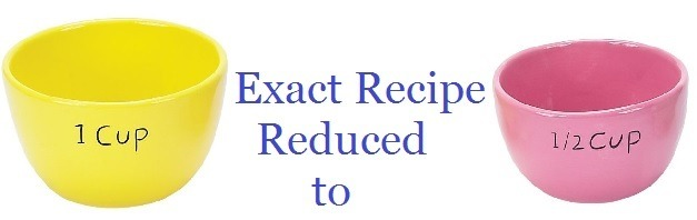 Reduce the recipe servings
