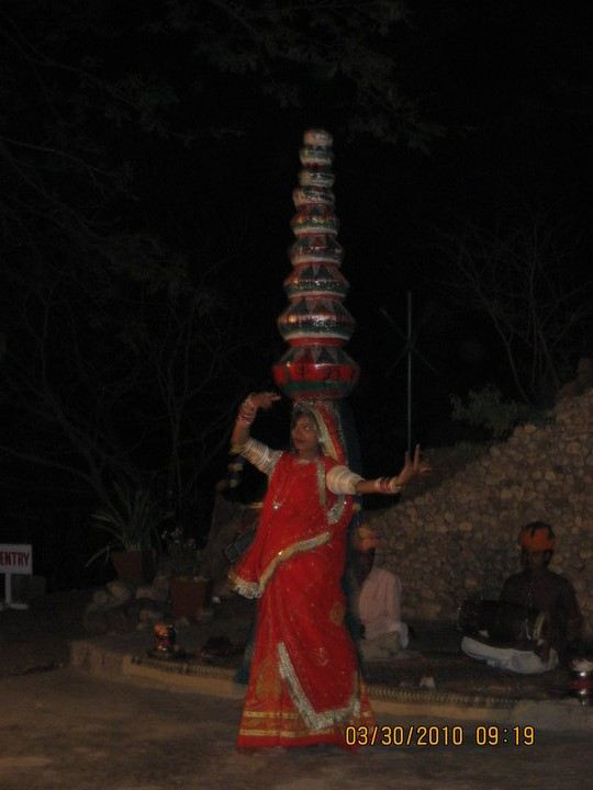 Folk dancer in Rajasthan