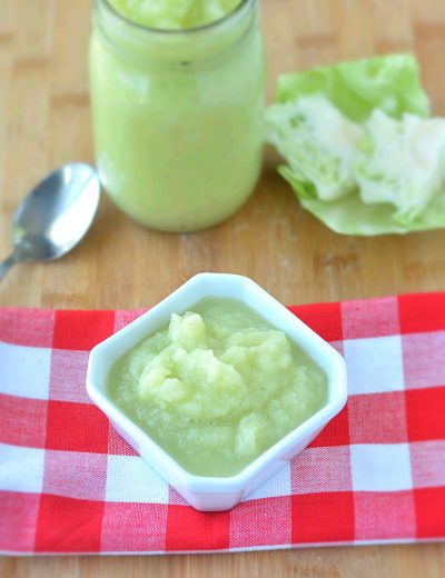 Boiled cabbage paste for no onion no garlic cooking