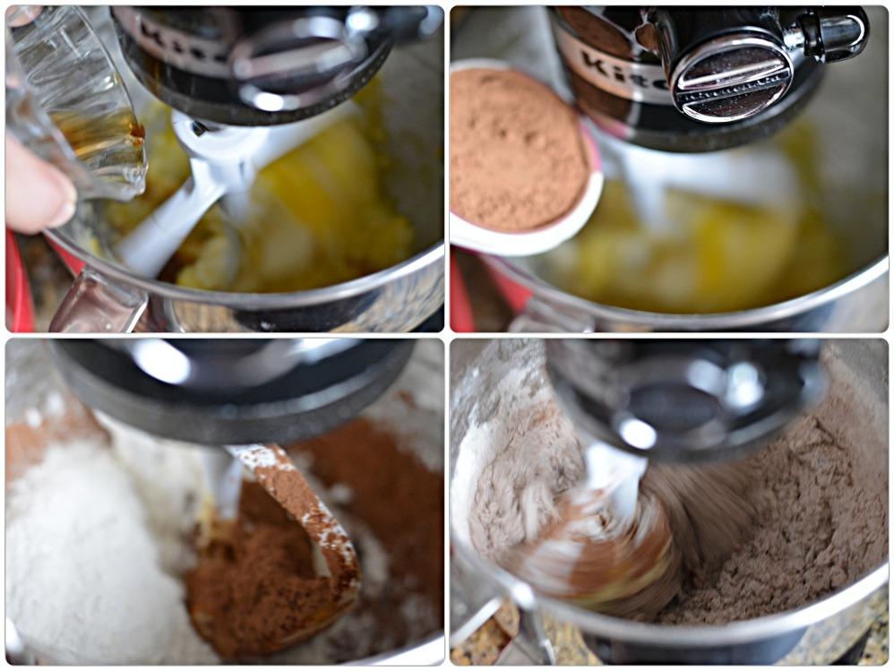 Pinwheel cookies - cocoa dough