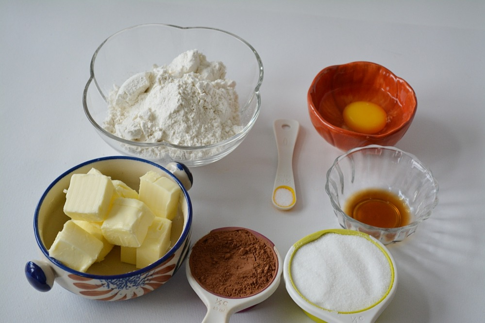 Pinwheel cookies - cocoa ingredients