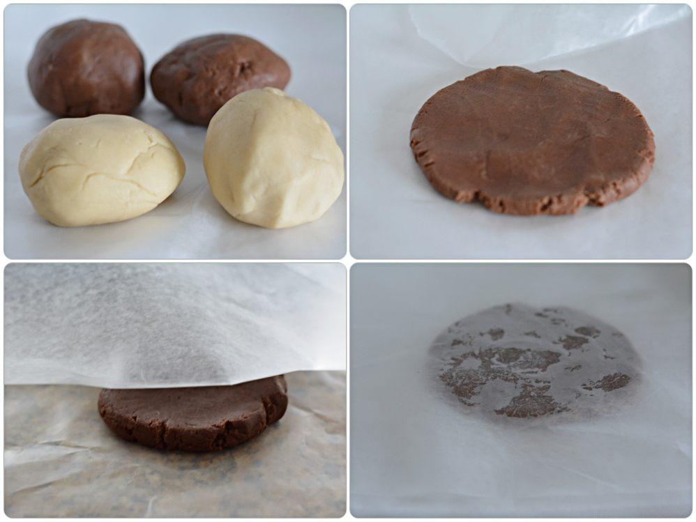 Pinwheel cookies - rolling cocoa dough