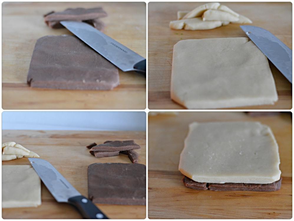 Pinwheel cookies- squares