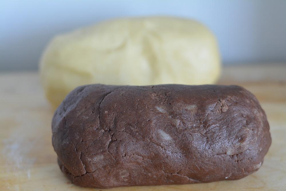 Pinwheel cookies - vanilla and cookie dough