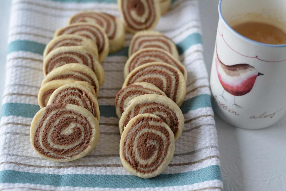 Pinwheel cookies - with tea