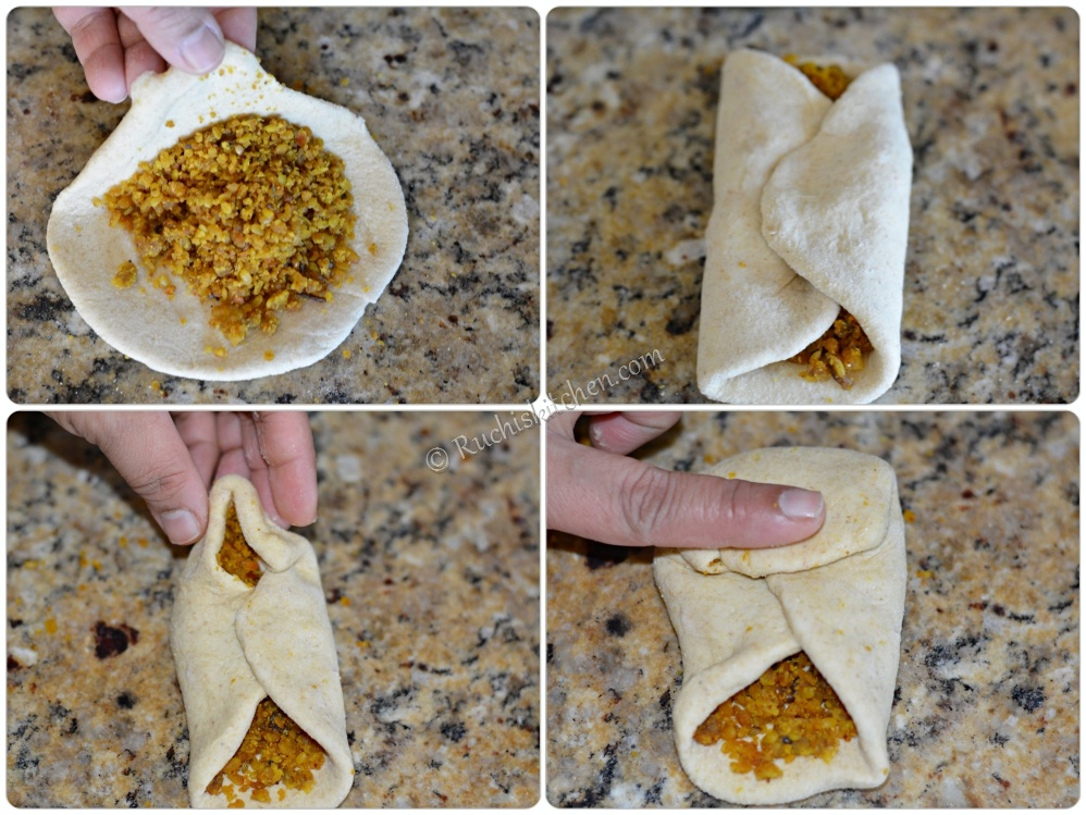 Pithi wali roti- roll up parantha