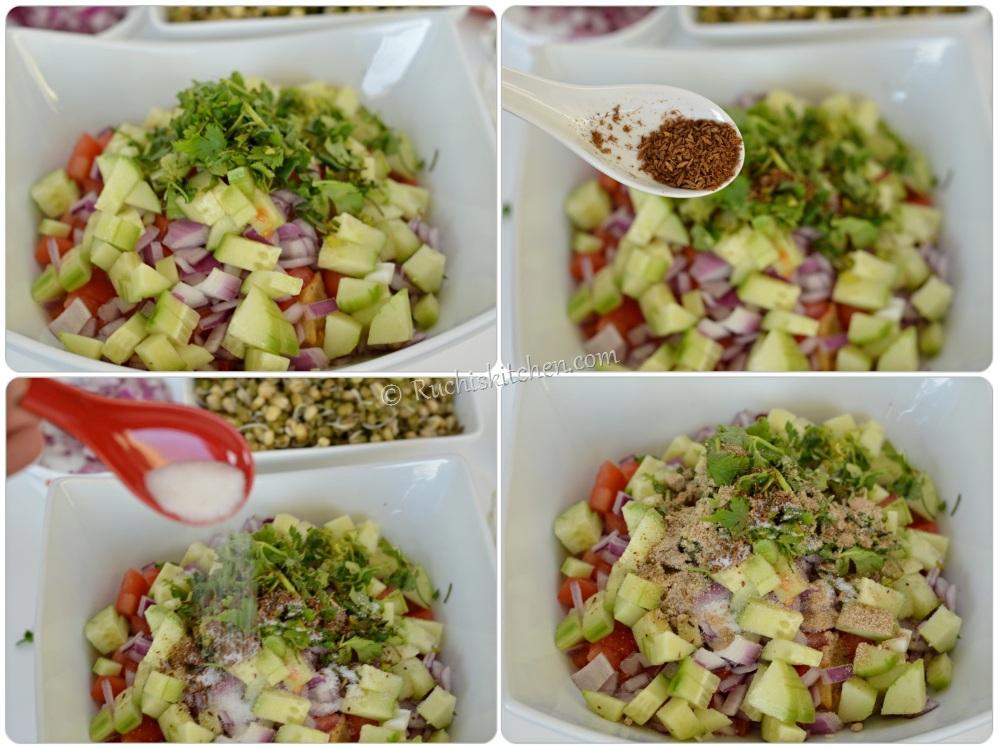 Sprout salad - assemble