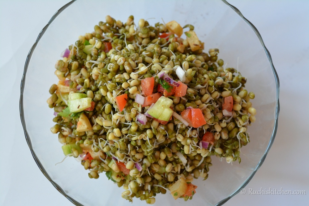 Sprout salad in bowl