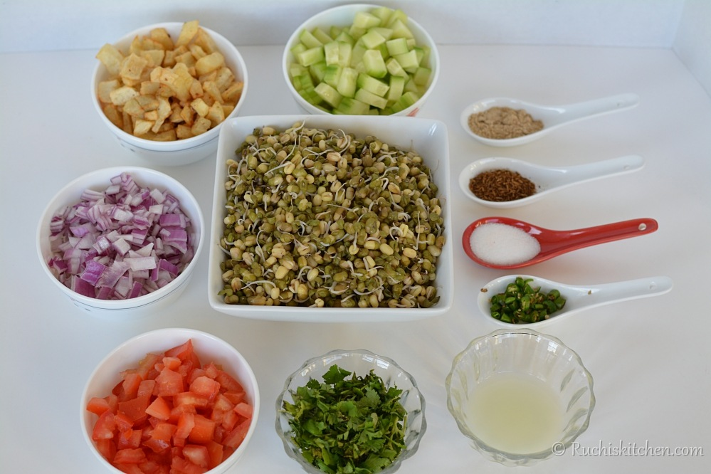 Sprout salad - ingredients