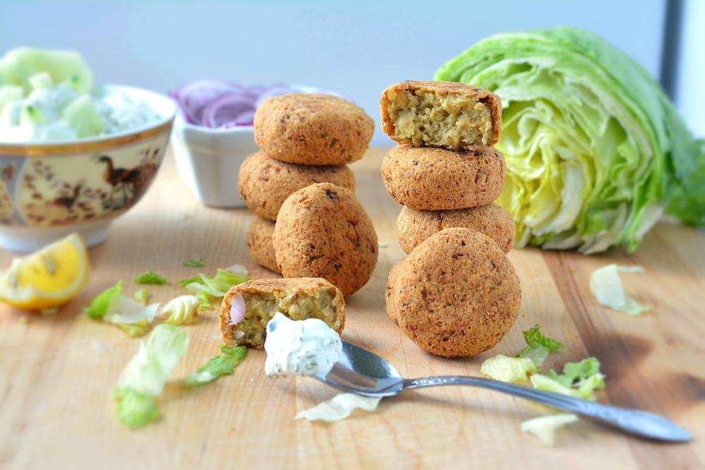 Falafel stuffed in Pita pockets