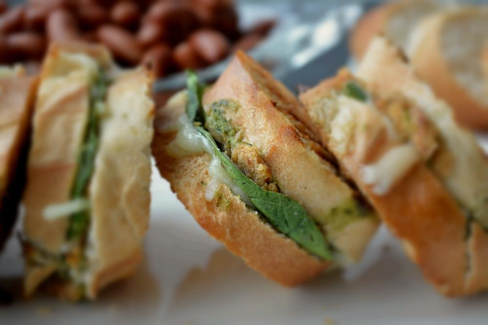 Vegetarian bruschetta Bean Sandwich