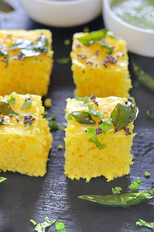 Khaman Dhokla recipe - Ruchiskitchen