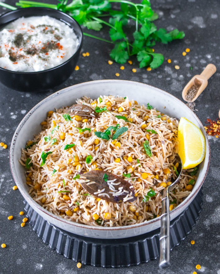 Pulao in a bowl