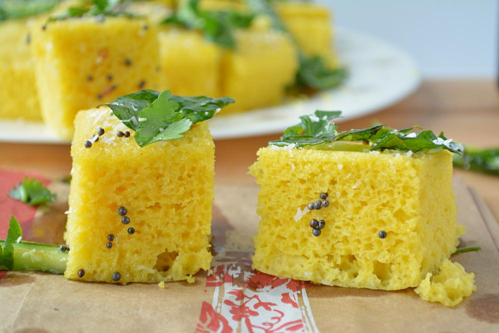 What is a difference between Khaman and Dhokla