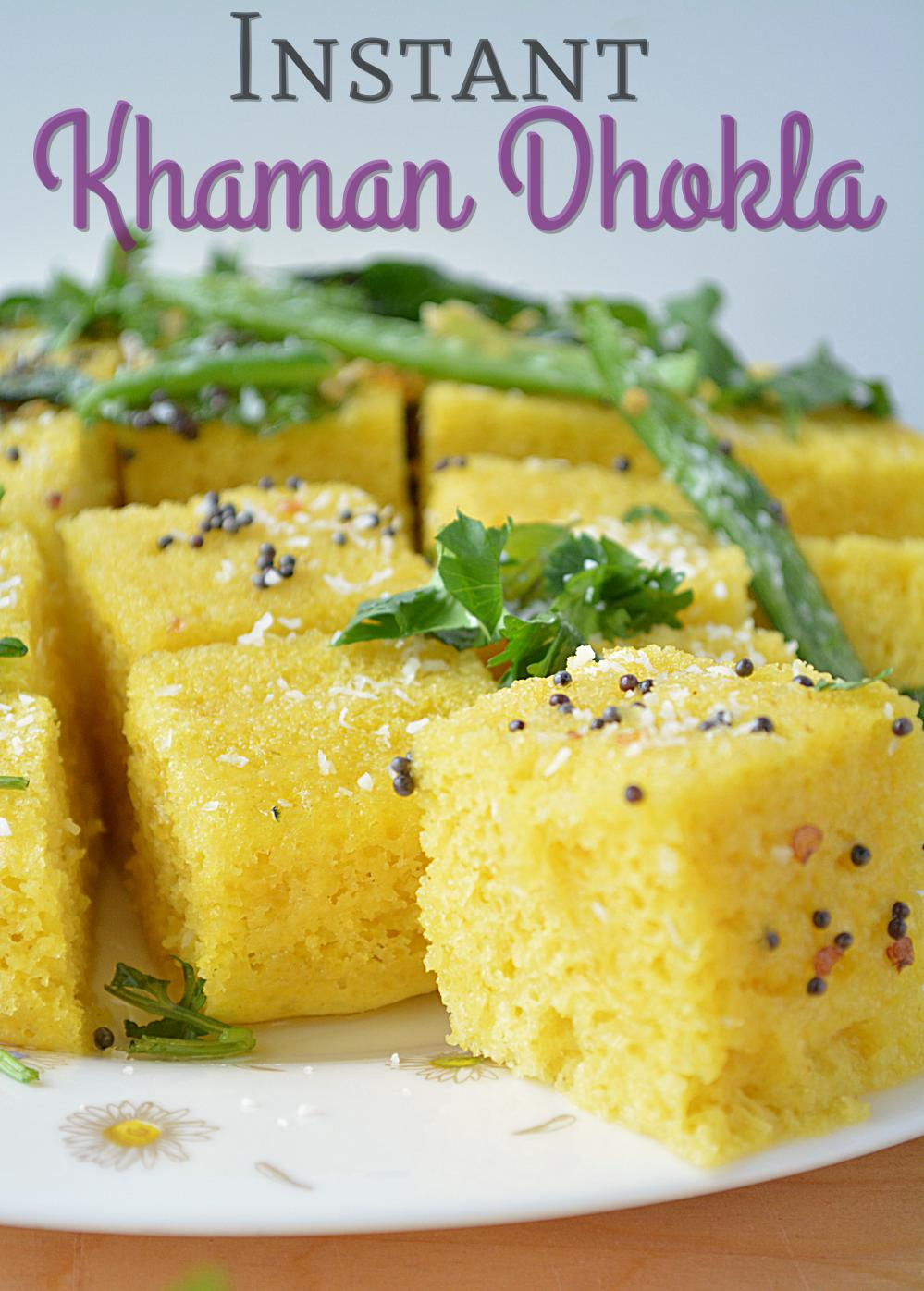 Fail proof instant khaman dhokla recipe dhokla with step by step like fluffy dhokla pieces forumfinder Images