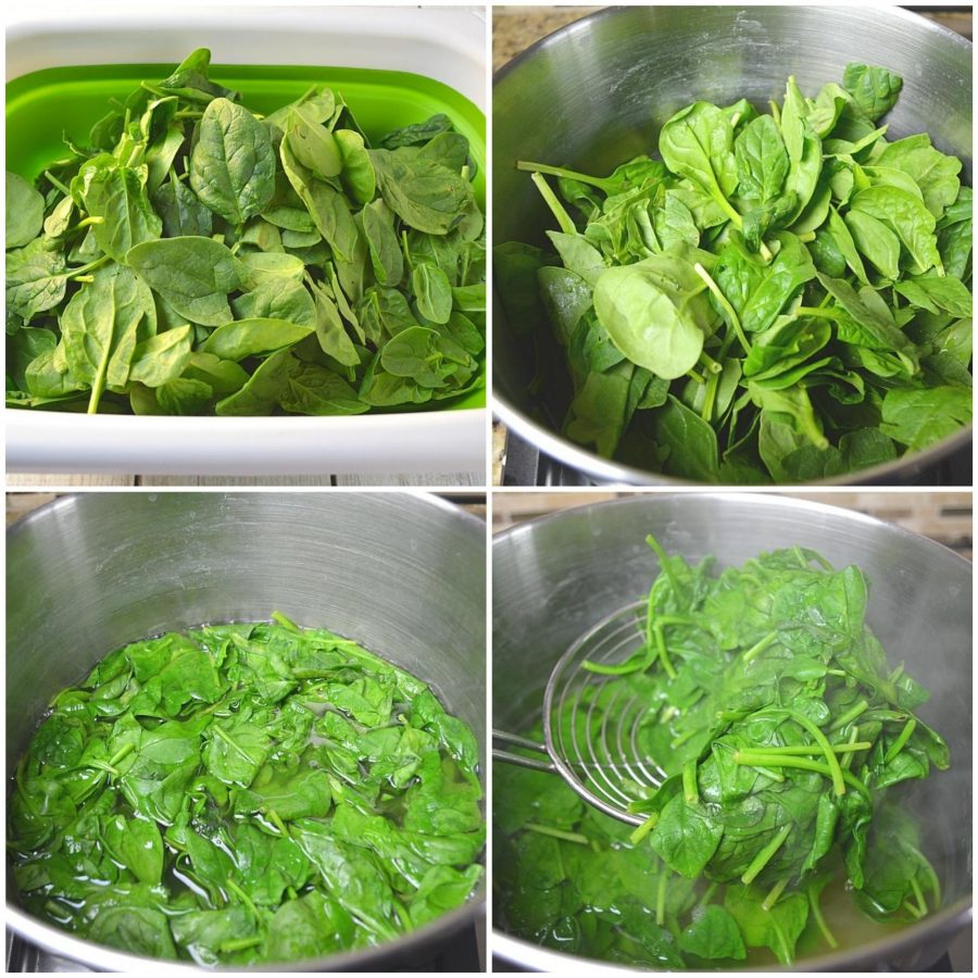 Blanching of Spinach